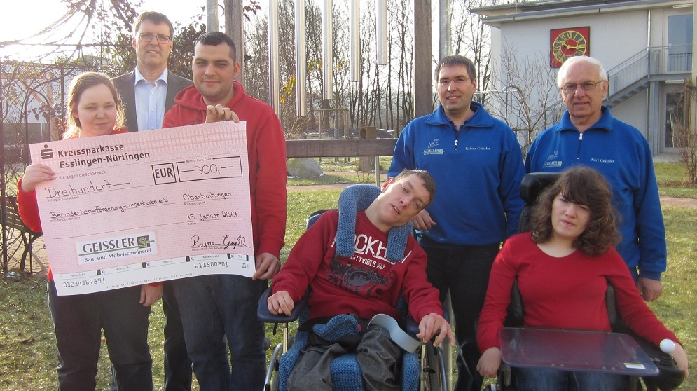 Schreinerei Esslingen schreinerei geißler spende behindertenförderung oberboihingen